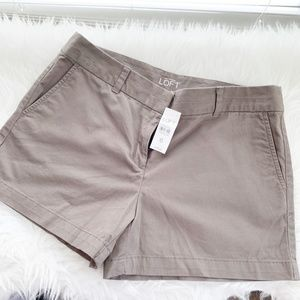 NWT LOFT Dress Shorts Size 6 Brown  Khaki